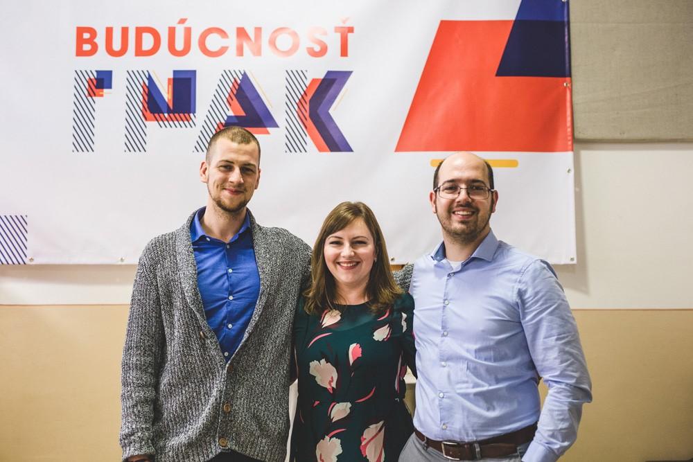 Traja odborní garanti Budúcnosti INAK. Zľava: Arnold Kiss, Eva Klimeková a Marián Holienka.